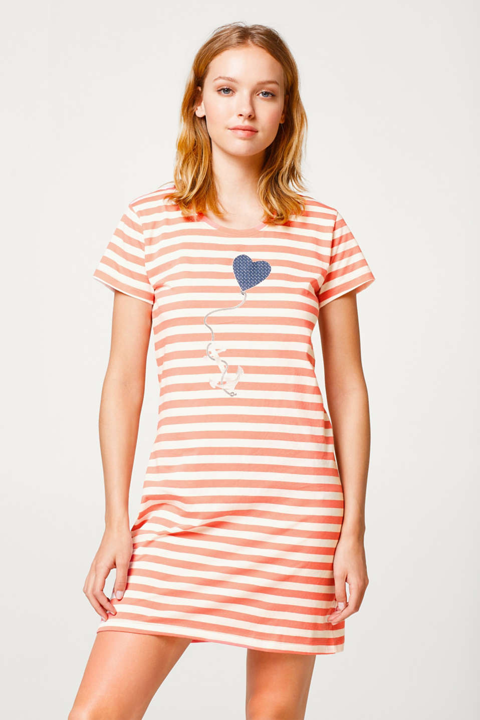 Soft jersey nightshirt with a print, 100% cotton