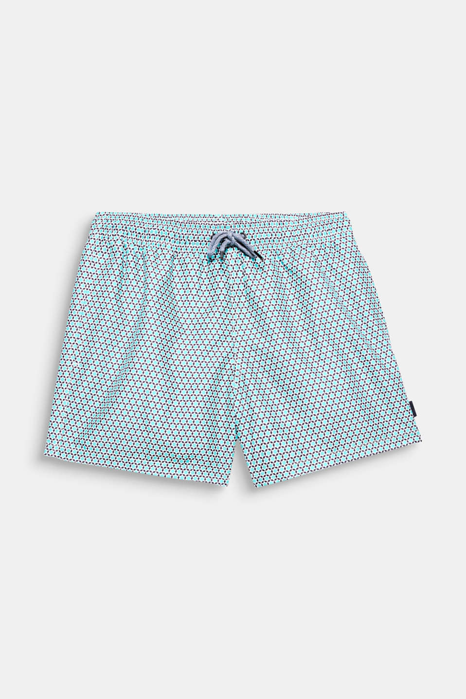 A minimalist print for maximum fun in the water! These swim trunks make playing in the water that much more fun.