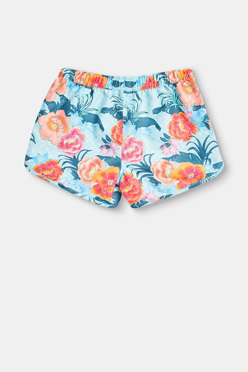 Swim shorts with a floral print