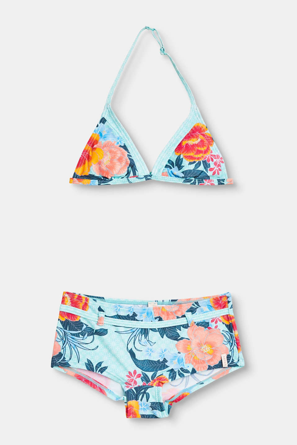 Whether its the ocean, the lake or the pool! This bikini set with a large floral print is an eye-catcher wherever you are.