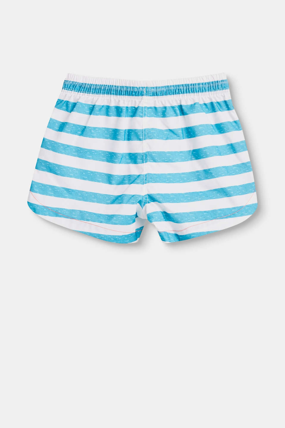 Badeshorts med stribeprint