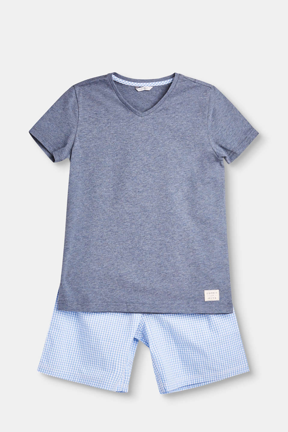 Esprit - Jersey/fabric pyjama set, 100% cotton