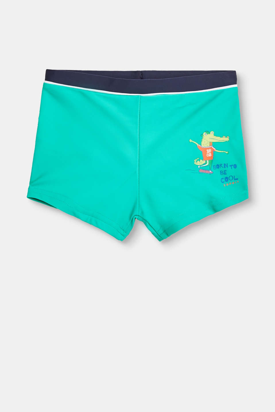 Cool swimwear for laid-back lads! Swimming will be even more fun in these retro shorts with a print motif.