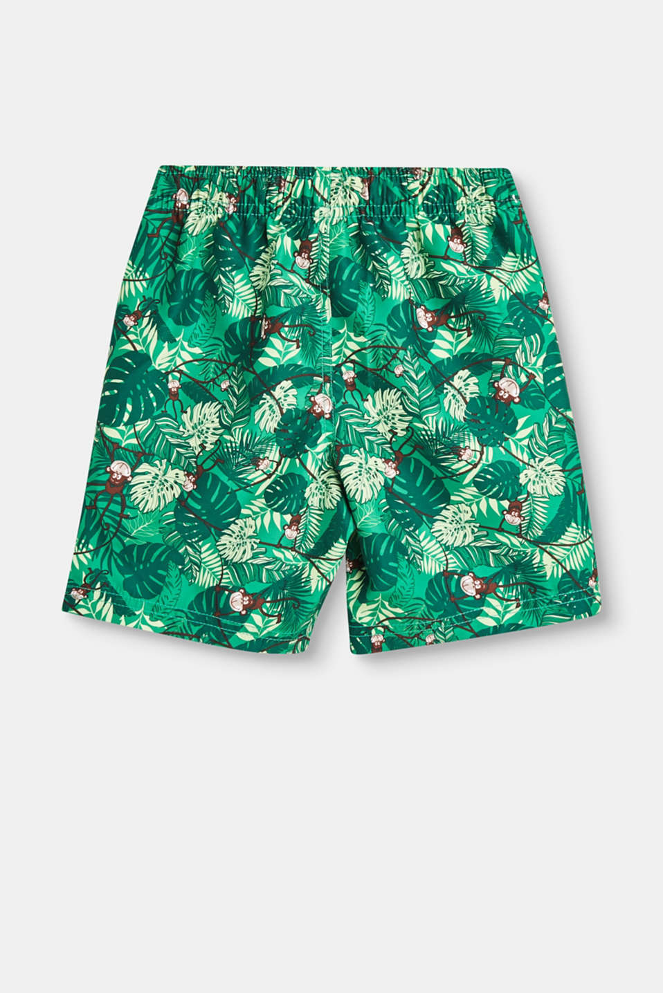 Swim shorts with a printed motif