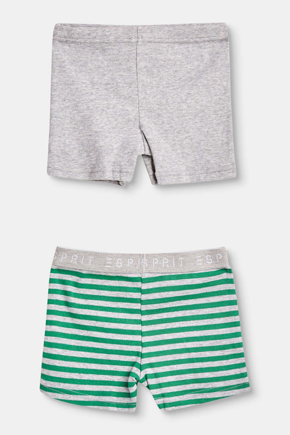 Double pack of cotton blend shorts