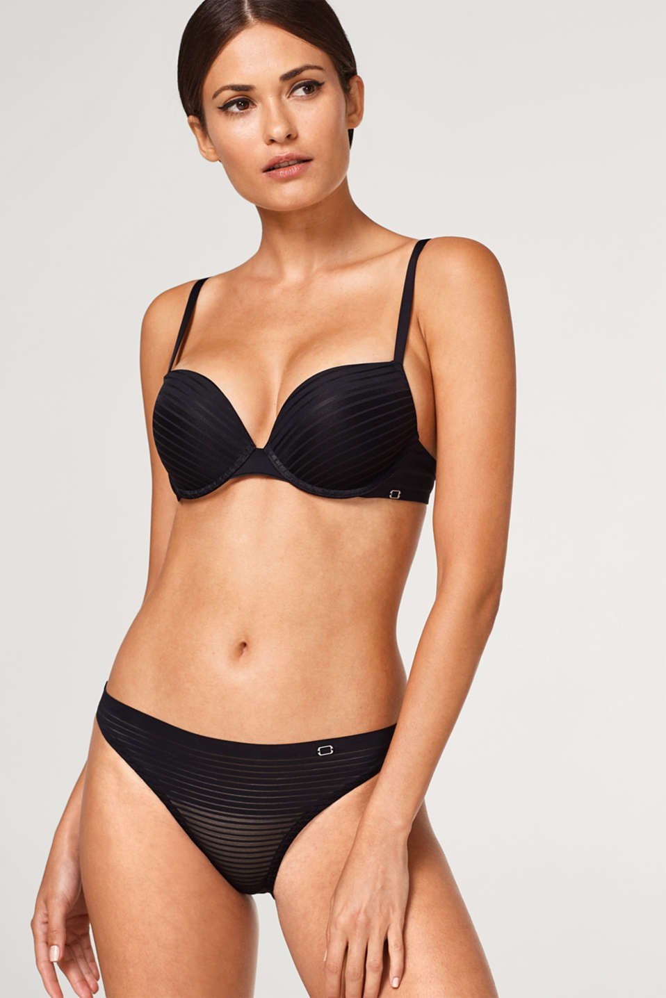 Esprit - NYE push-up bra with tonal micro stripes