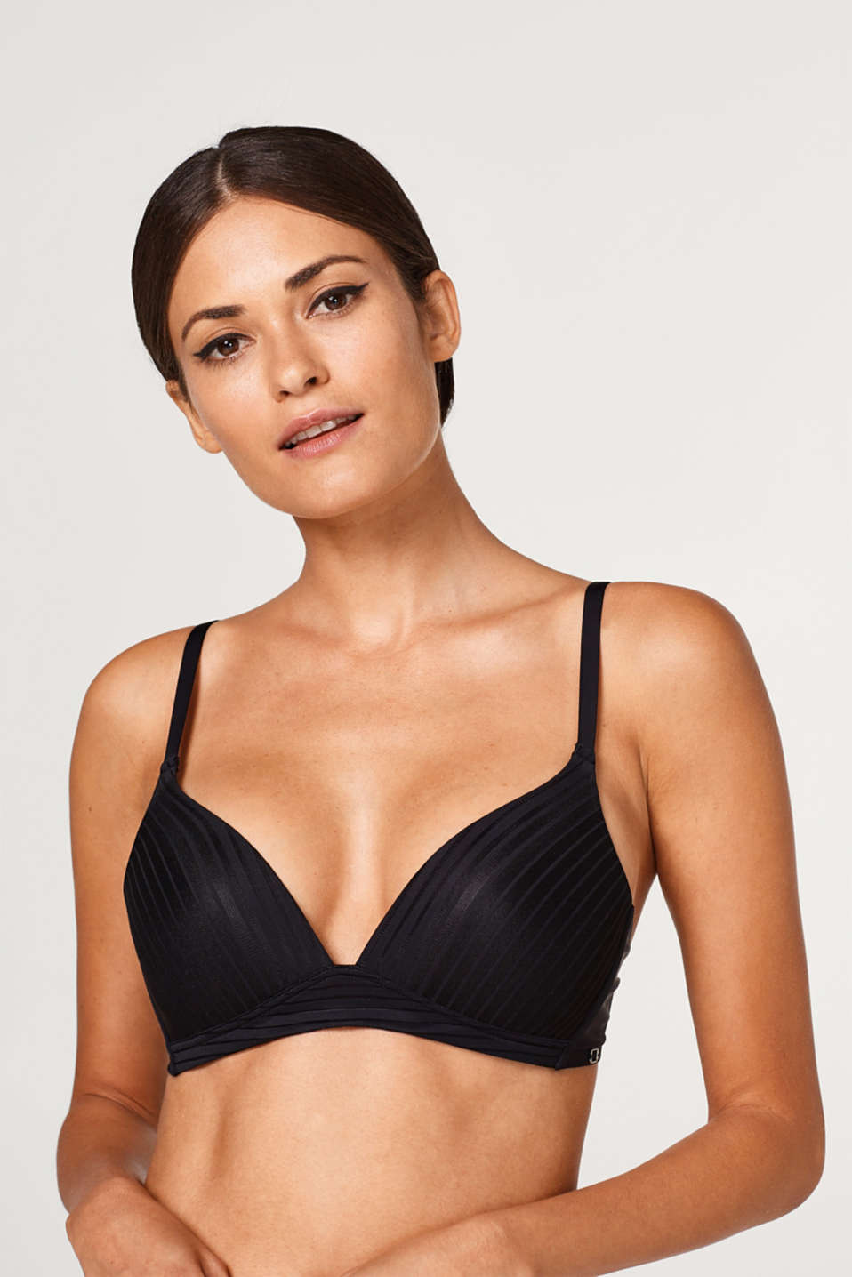 Esprit - NYE padded bra with micro stripes