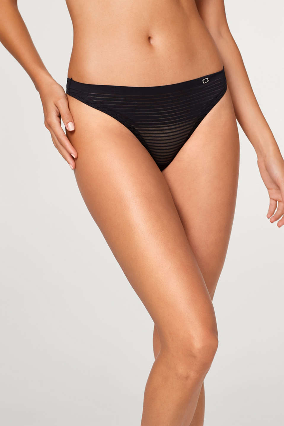 Esprit - NYE hipster thong with sheer micro stripes