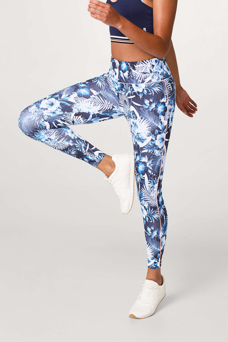 Esprit - Active-pants med blomsterprint, E-DRY