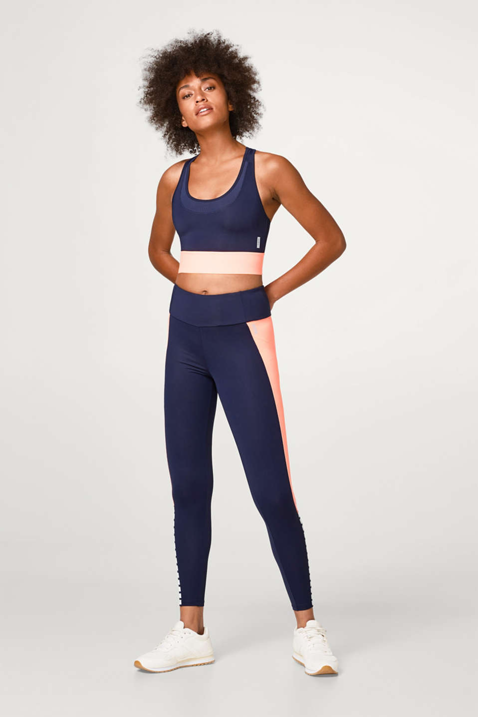 Capri leggings with colour blocking, E-DRY