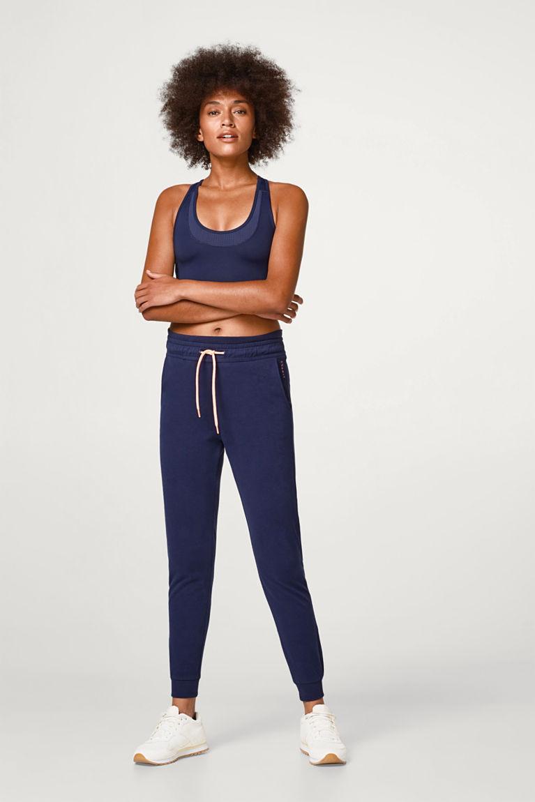 Esprit  Weiche Sweat-Pants mit Stretchkomfort blau | 4059602856375