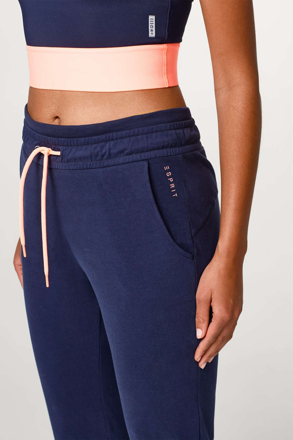 Soft tracksuit bottoms + stretch for comfort