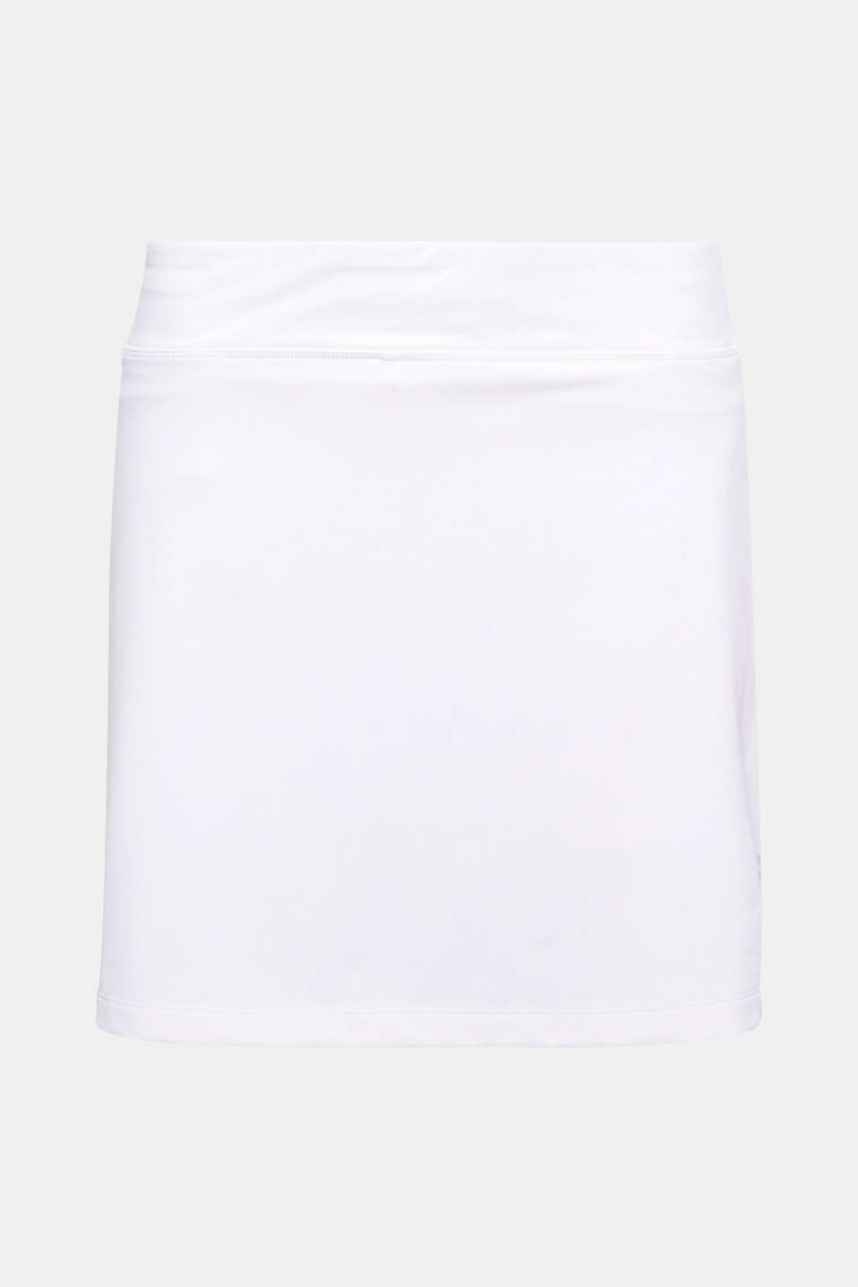 This tennis skirt is highly functional with E-DRY technology and integrated shorts which have a side tennis ball pocket!