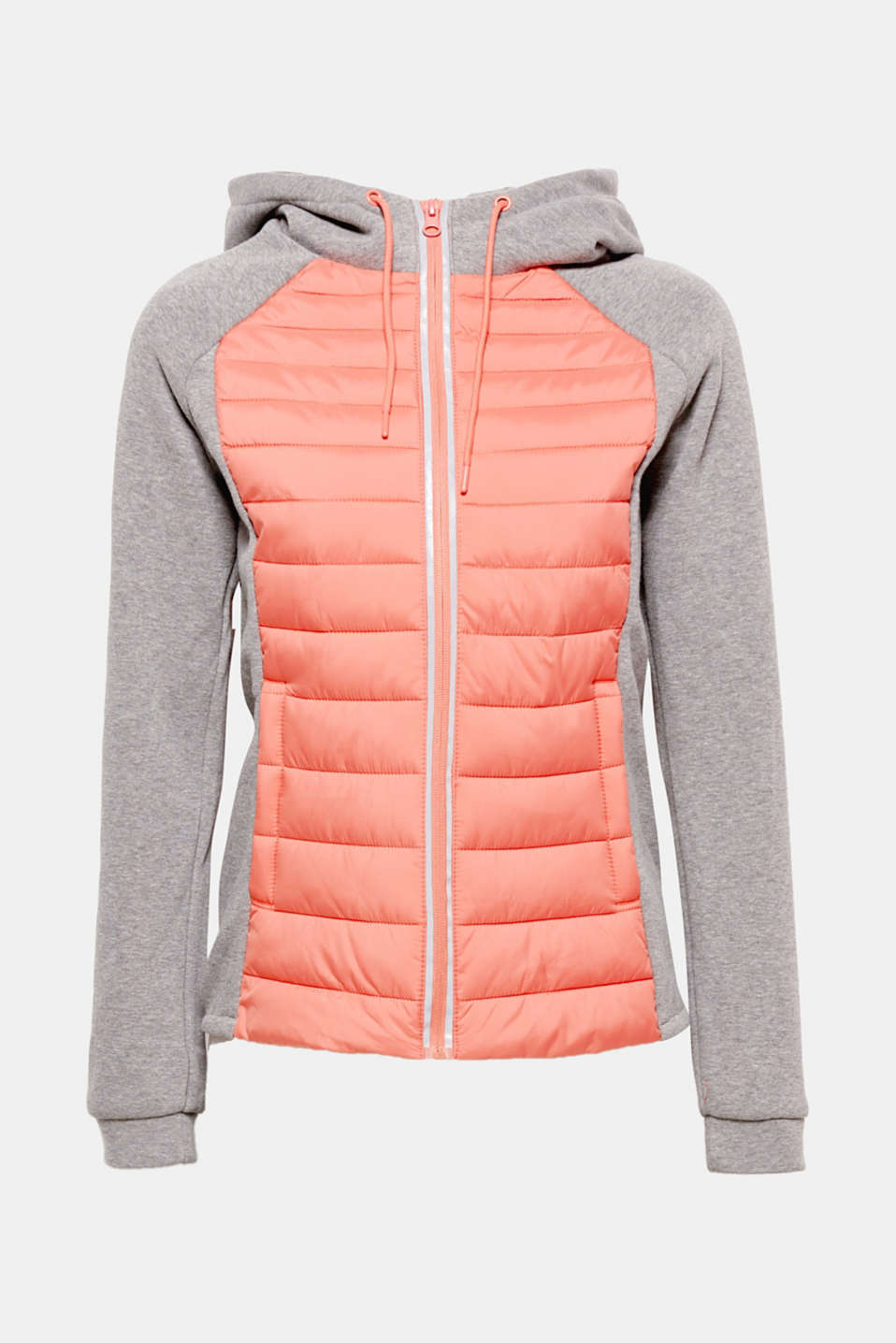 This lightweight quilted jacket featuring jersey sections is perfect for sporty outdoor activities between seasons!