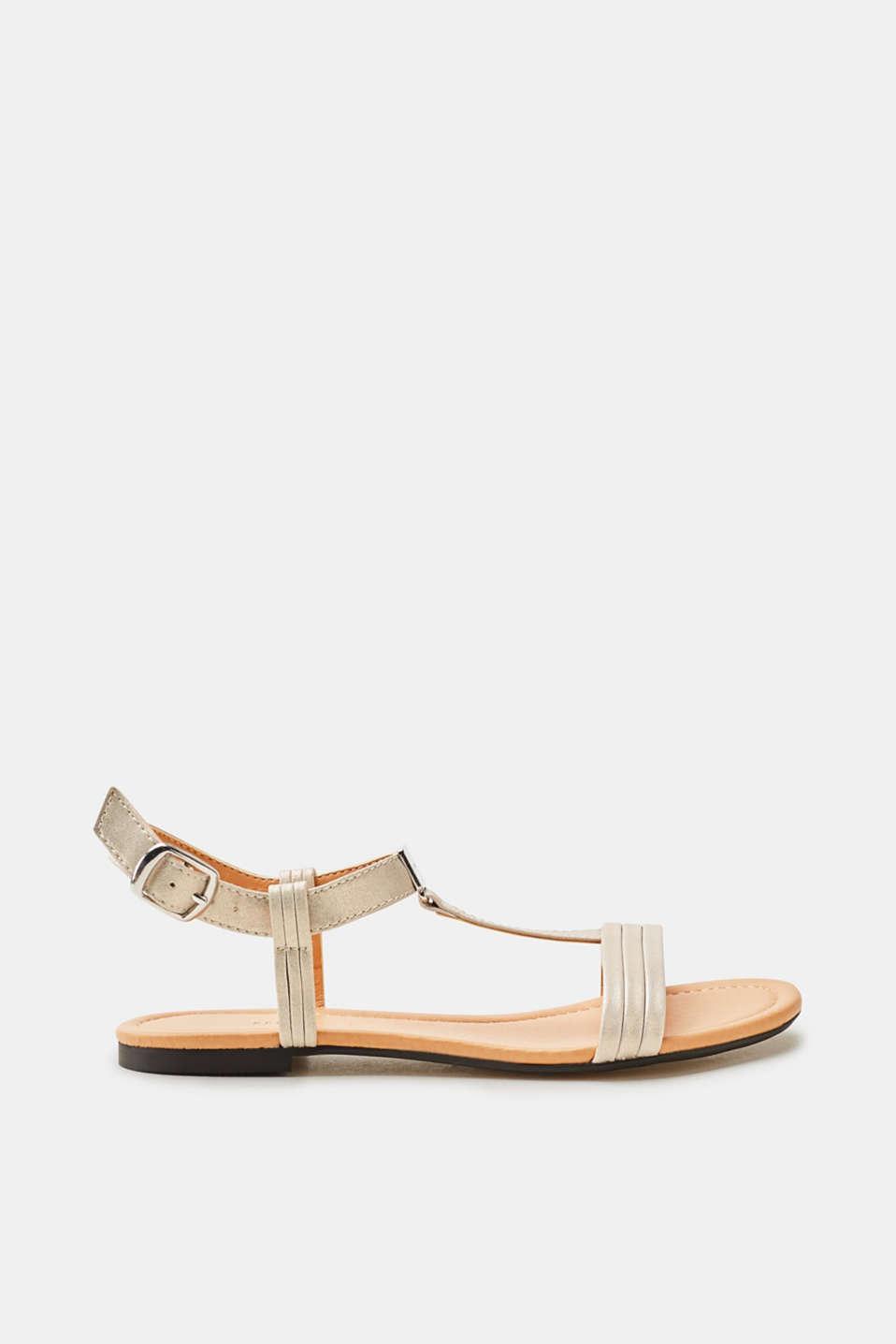 Sandales Plates Similicuir Blanc Pour Les Femmes Esprit pvi8x7g