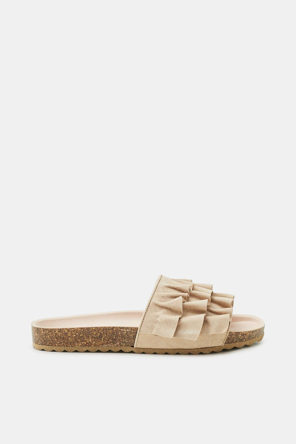Esprit - Frill detail leather mules