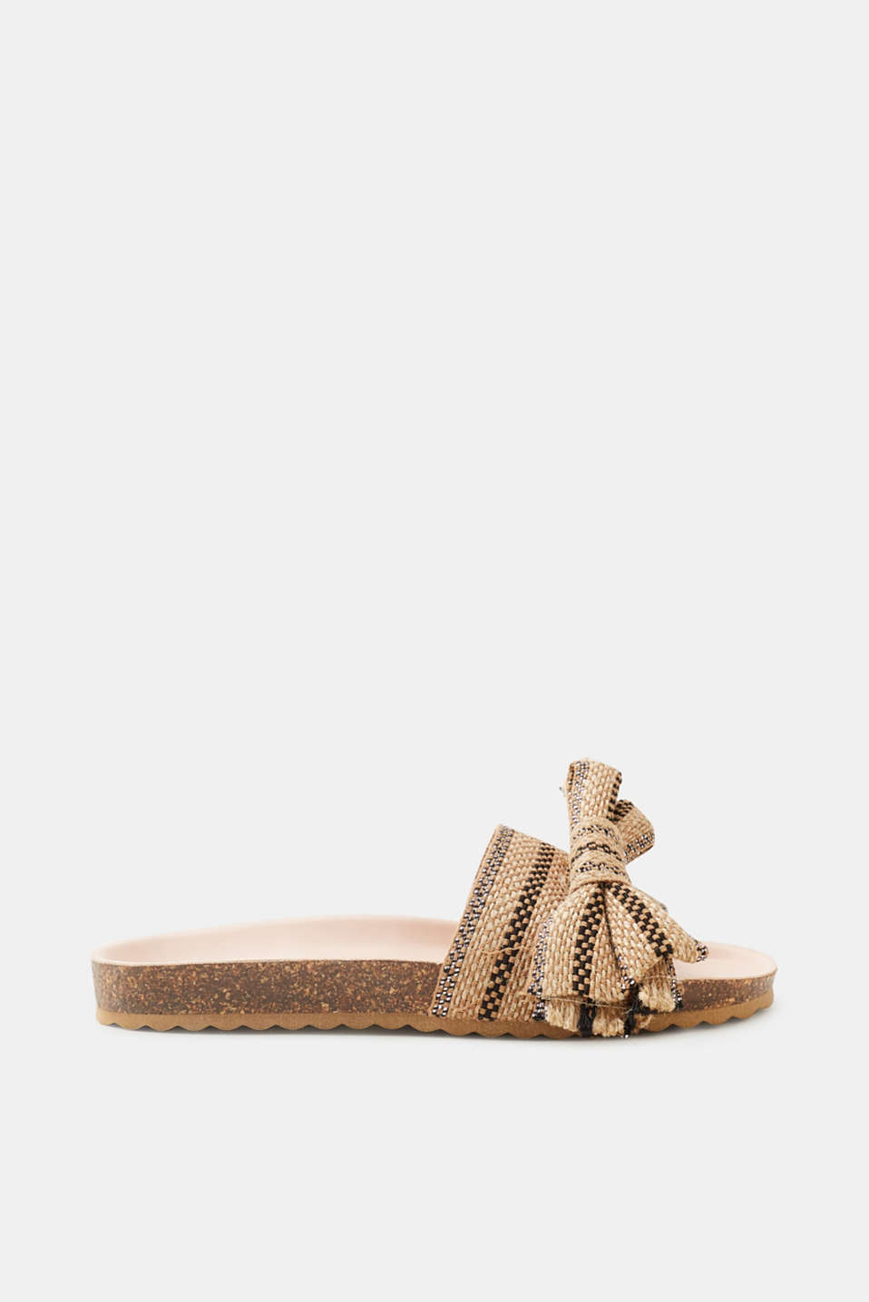 Esprit - Mules with a jute trim and glitter effect
