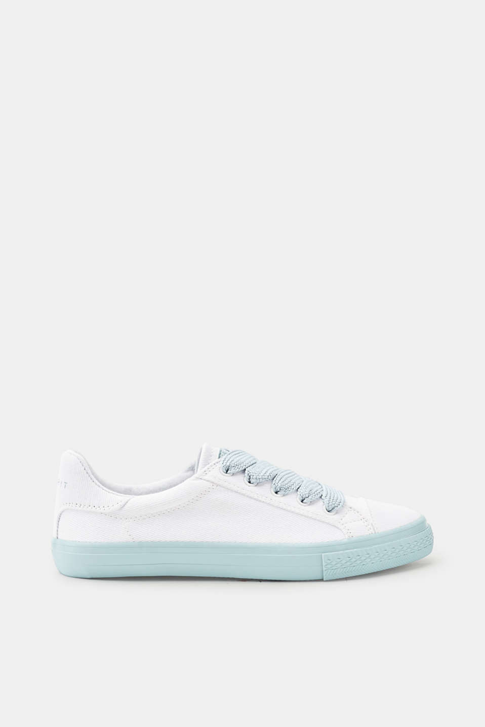 Esprit - Canvas trainers with wide woven laces