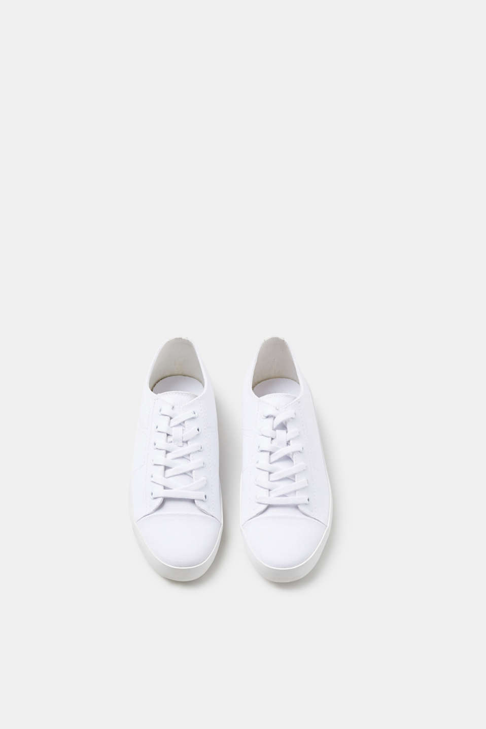 Cotton canvas lace-up trainers