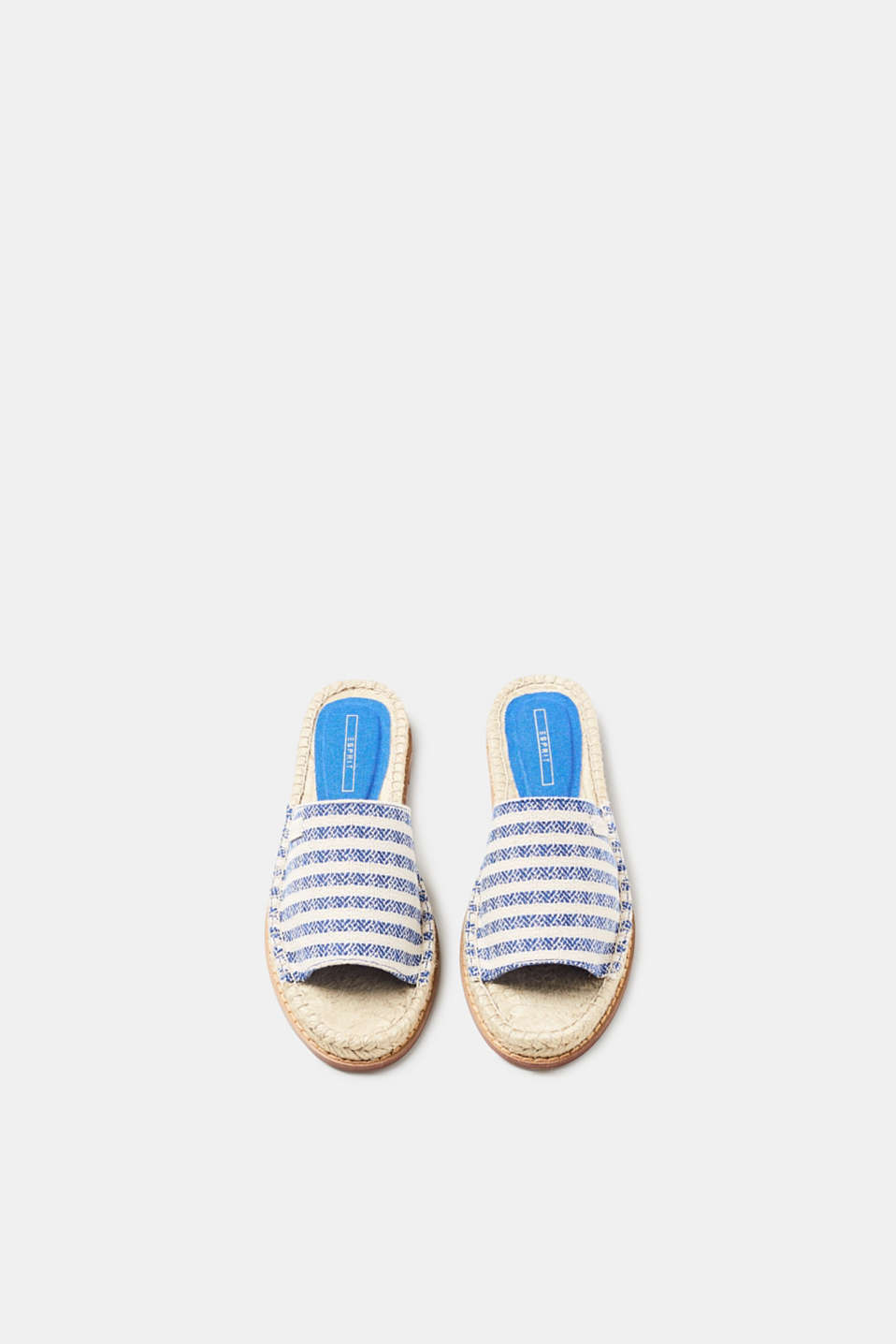 Esprit - Flat mules with a bast trim