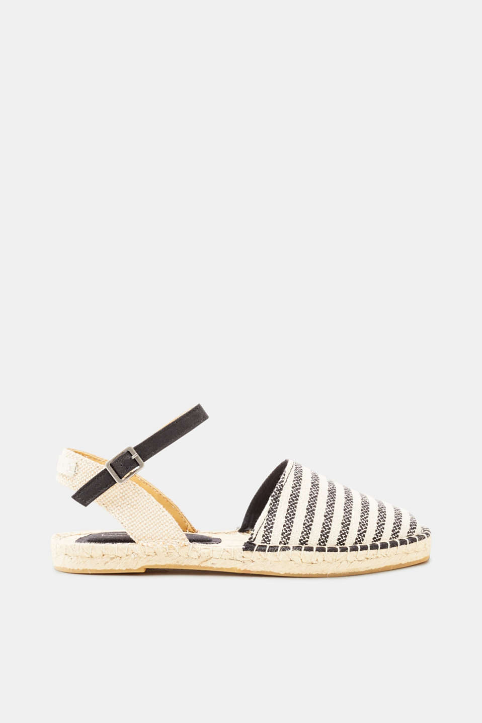 Esprit - Nautical espadrilles with ankle straps