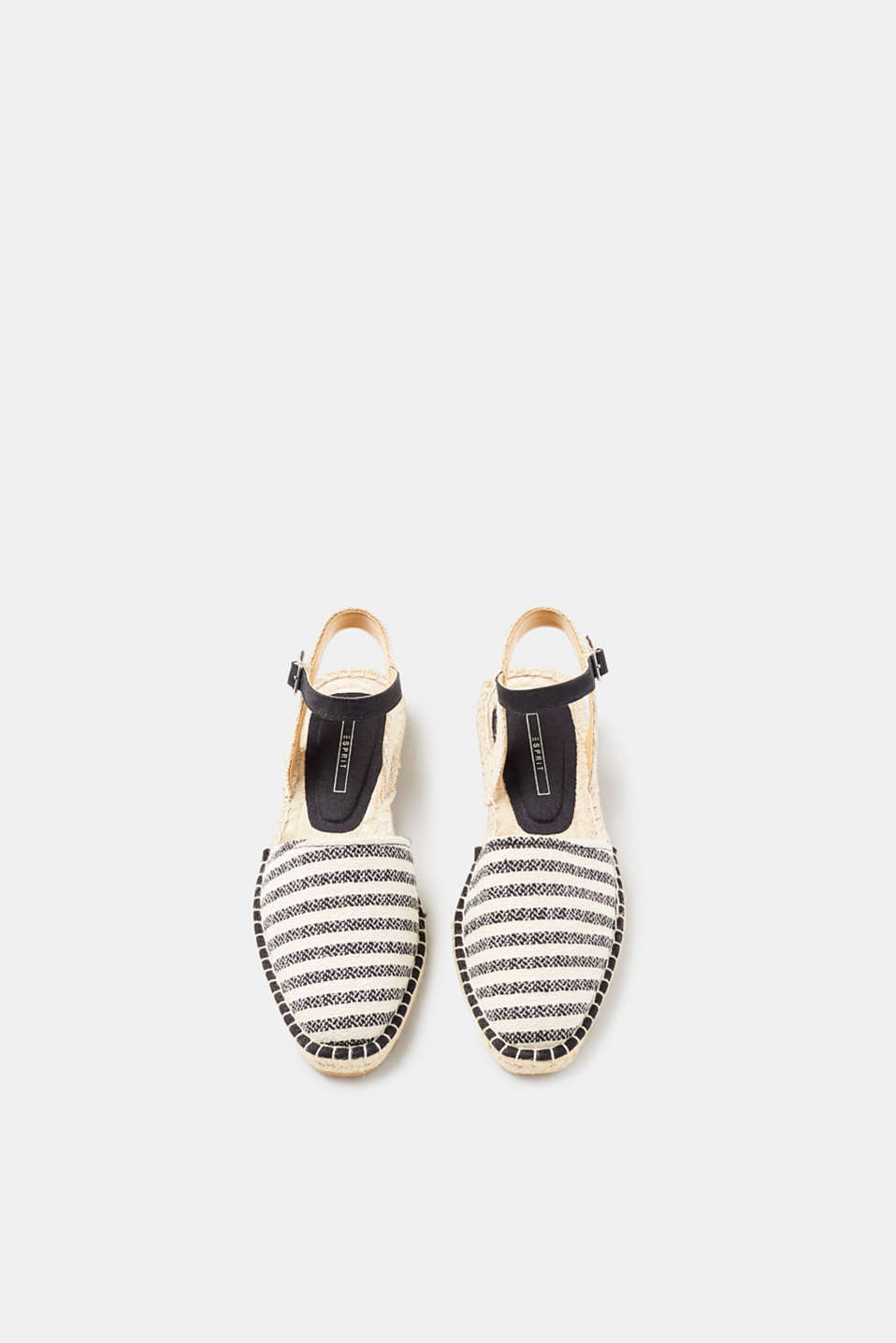 Nautical espadrilles with ankle straps