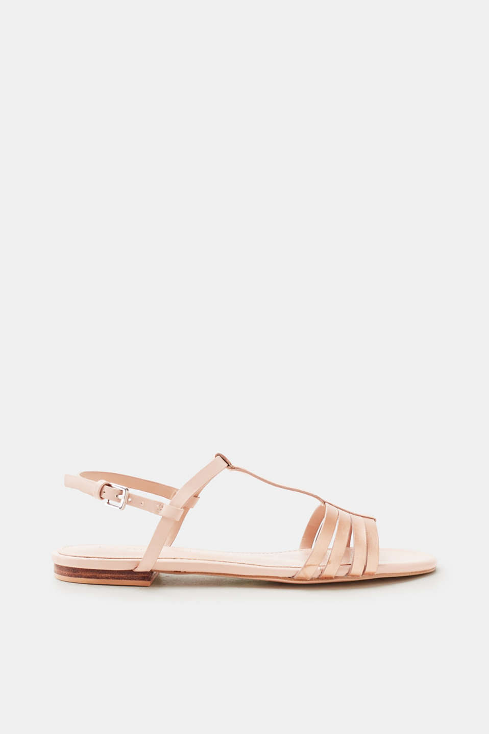 Esprit - Flat sandals in smooth faux leather