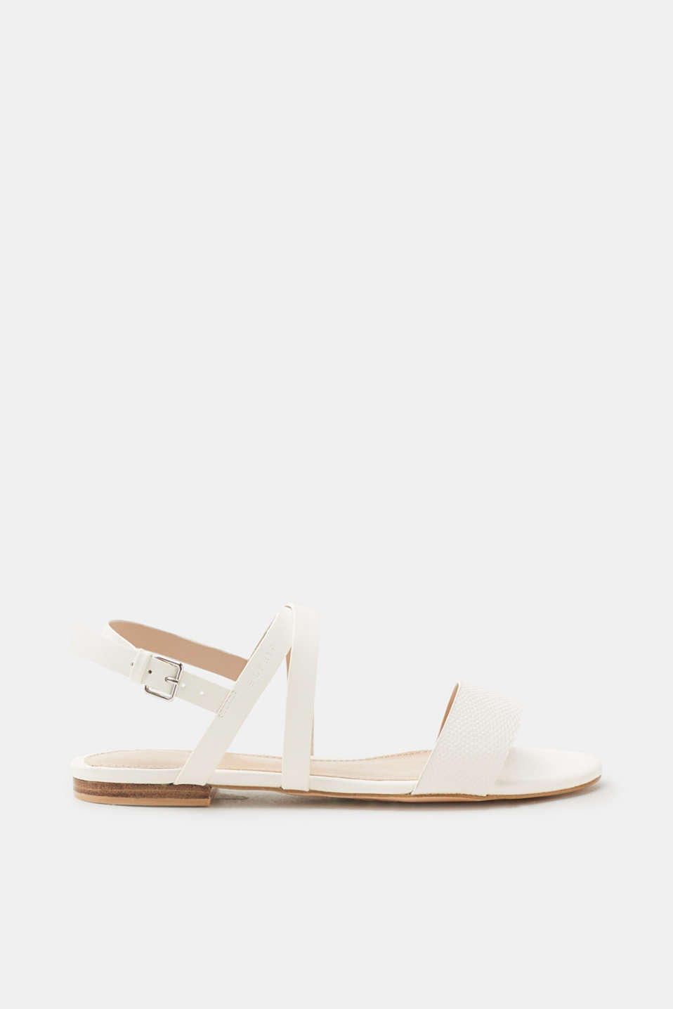 Esprit - Flat sandals in faux leather