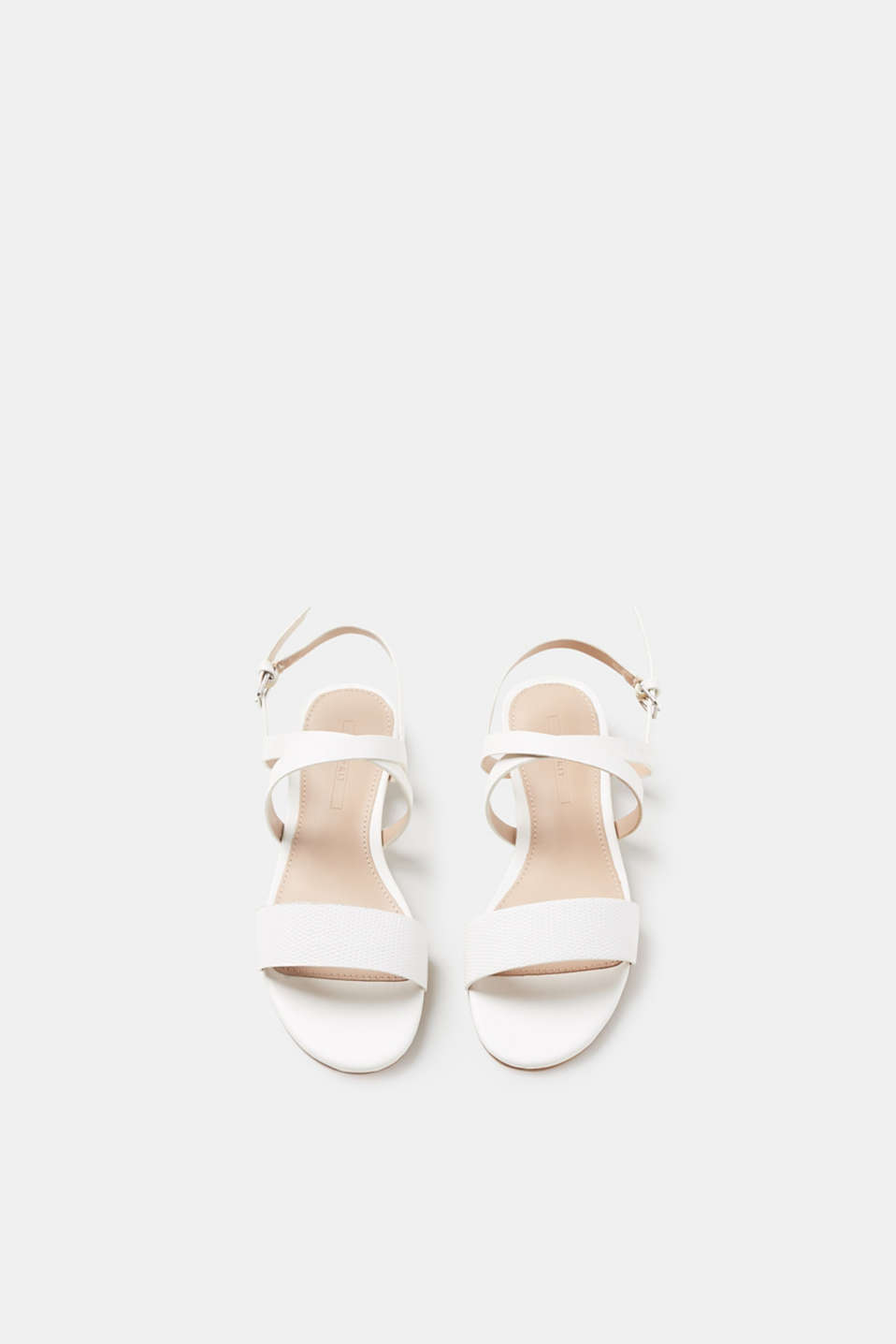 Flat sandals in faux leather