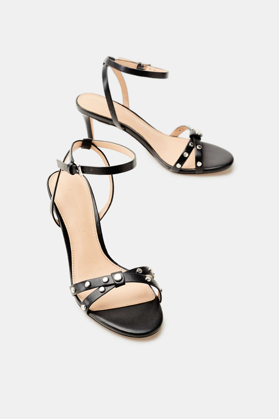 On-trend sandals with stud embellishments