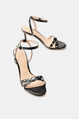 Esprit Trendige Sandalette mit Nieten-Dekor für Damen, Größe 41, Black