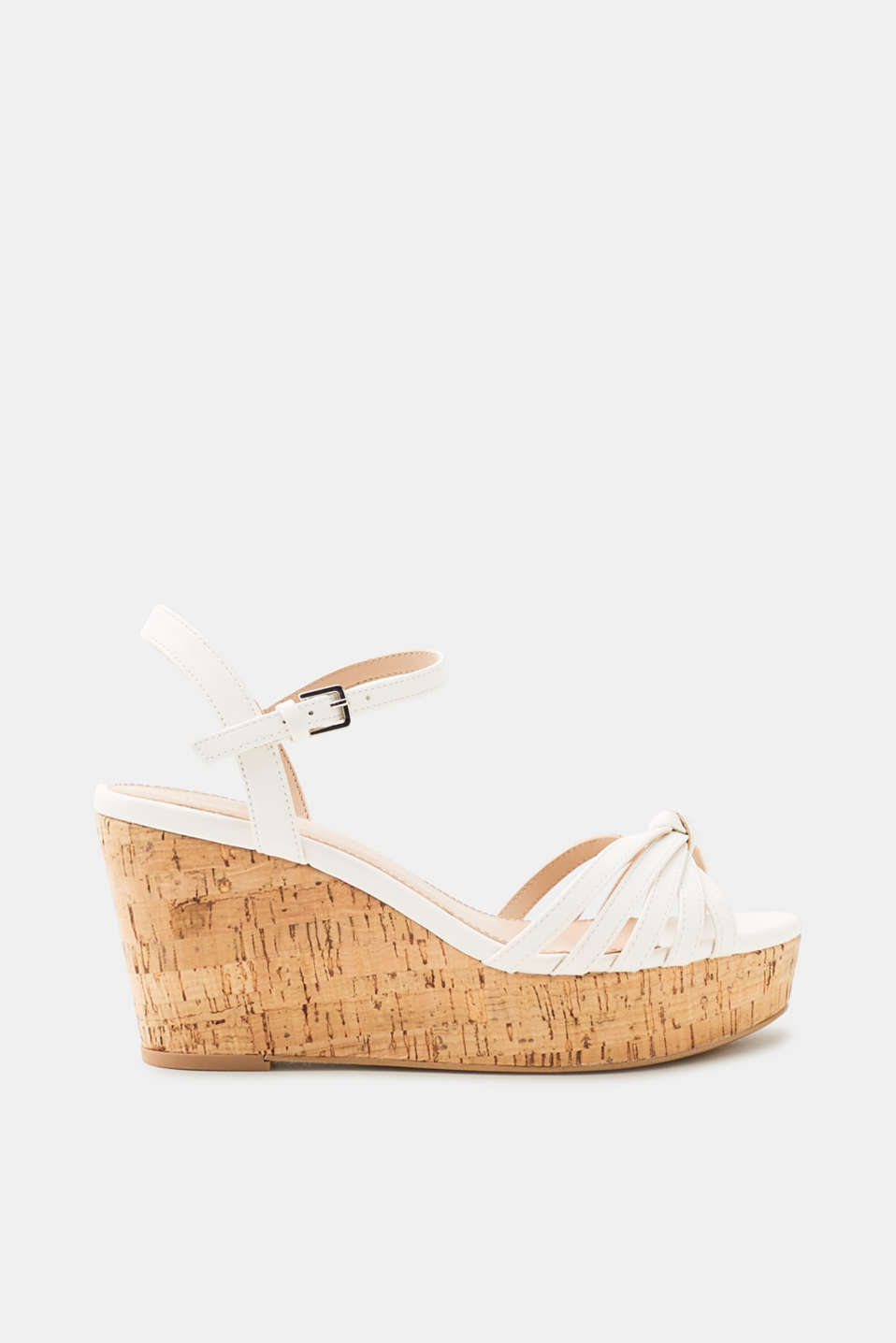 Esprit - Cork-effect wedge sandals