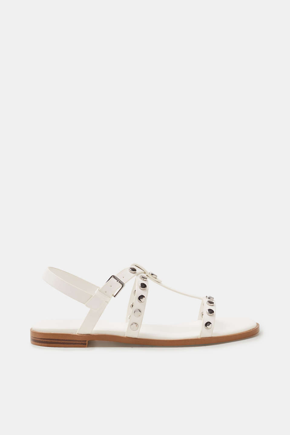 Esprit - Flat sandals in faux leather with a decorative studs