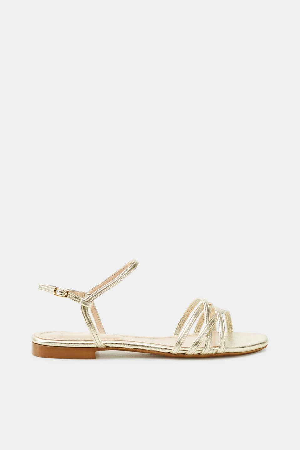 Esprit - Flat sandals in a metallic look