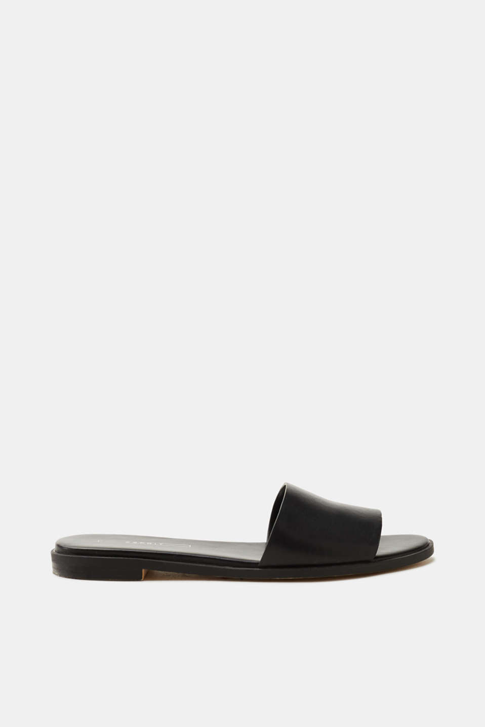 Esprit - Mules in smooth faux leather
