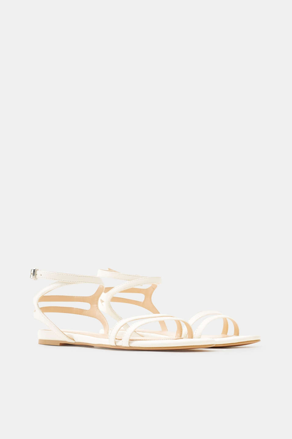 Finely textured strappy sandals