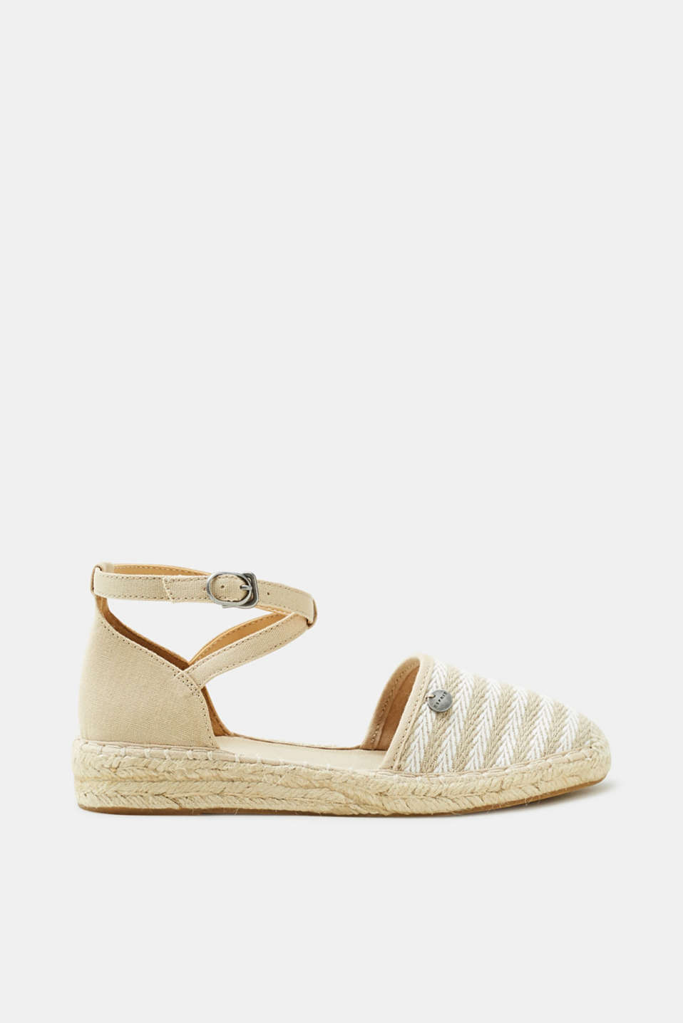 Esprit - Espadrilles with a striped pattern