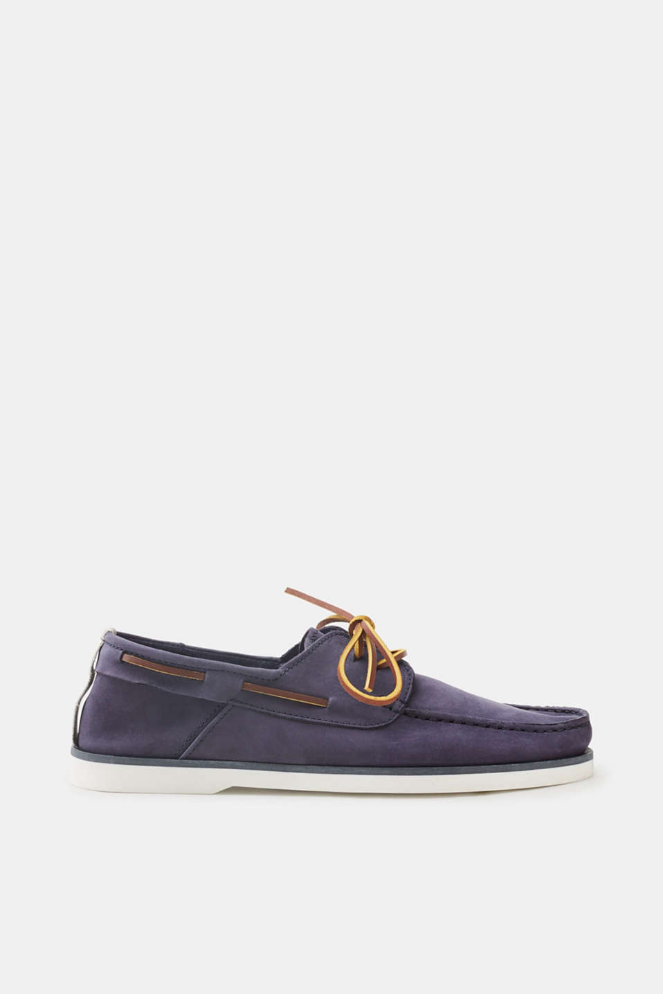 Esprit - Boat shoe with a pale sole, in suede