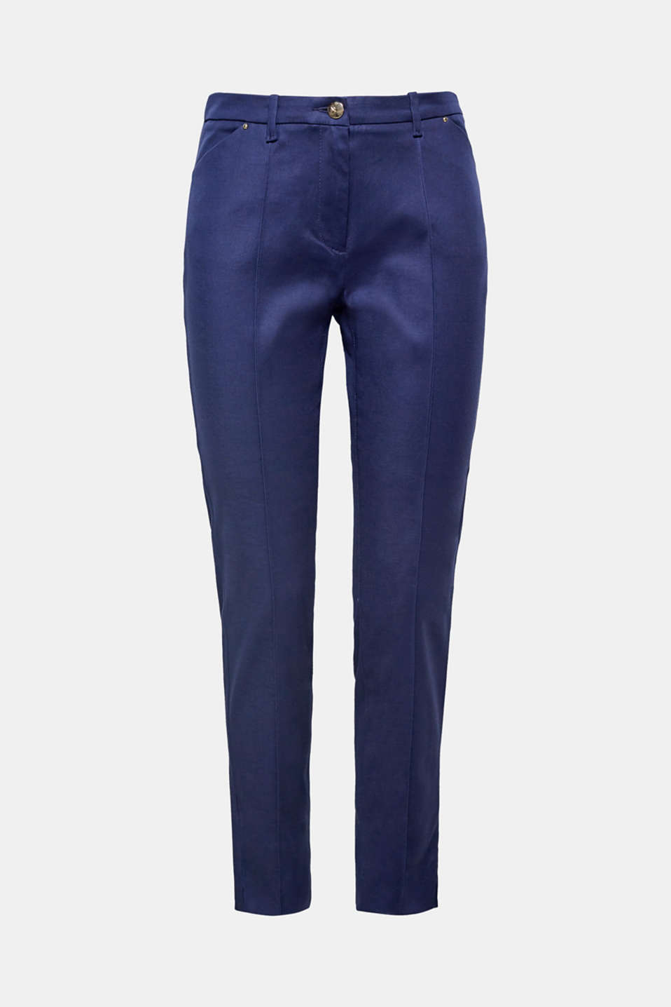 For everyday wear or work: these ankle-length stretch trousers with a front seam and decorative studs are so versatile.