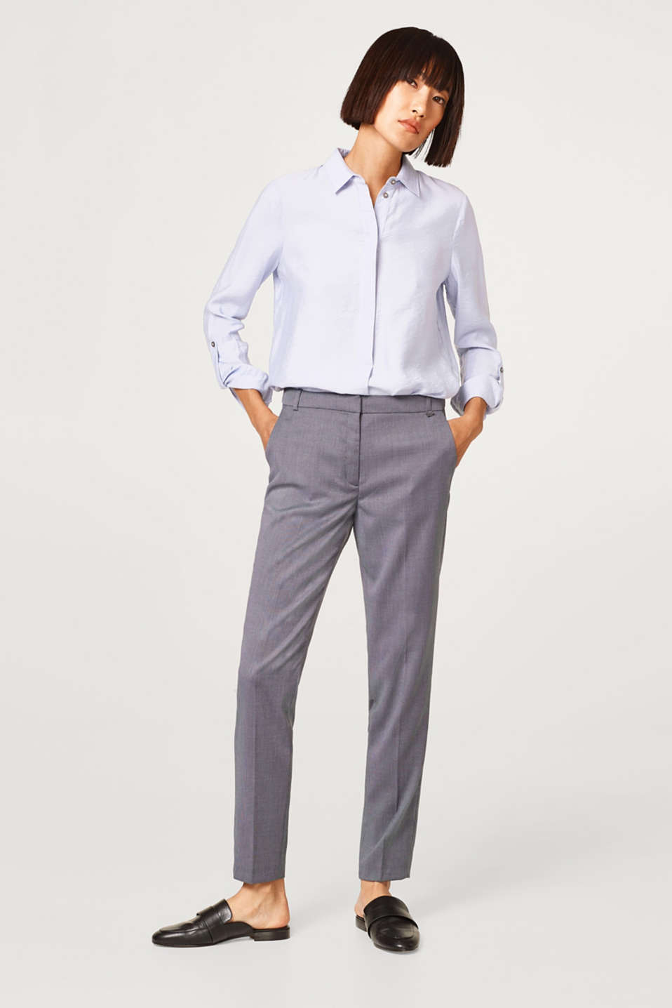 Esprit - MULTI STRUCTURE mix + match broek met stretch