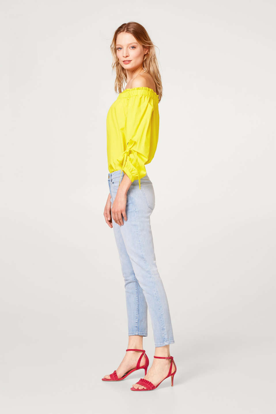 Esprit - Bleached-effect stretch jeans