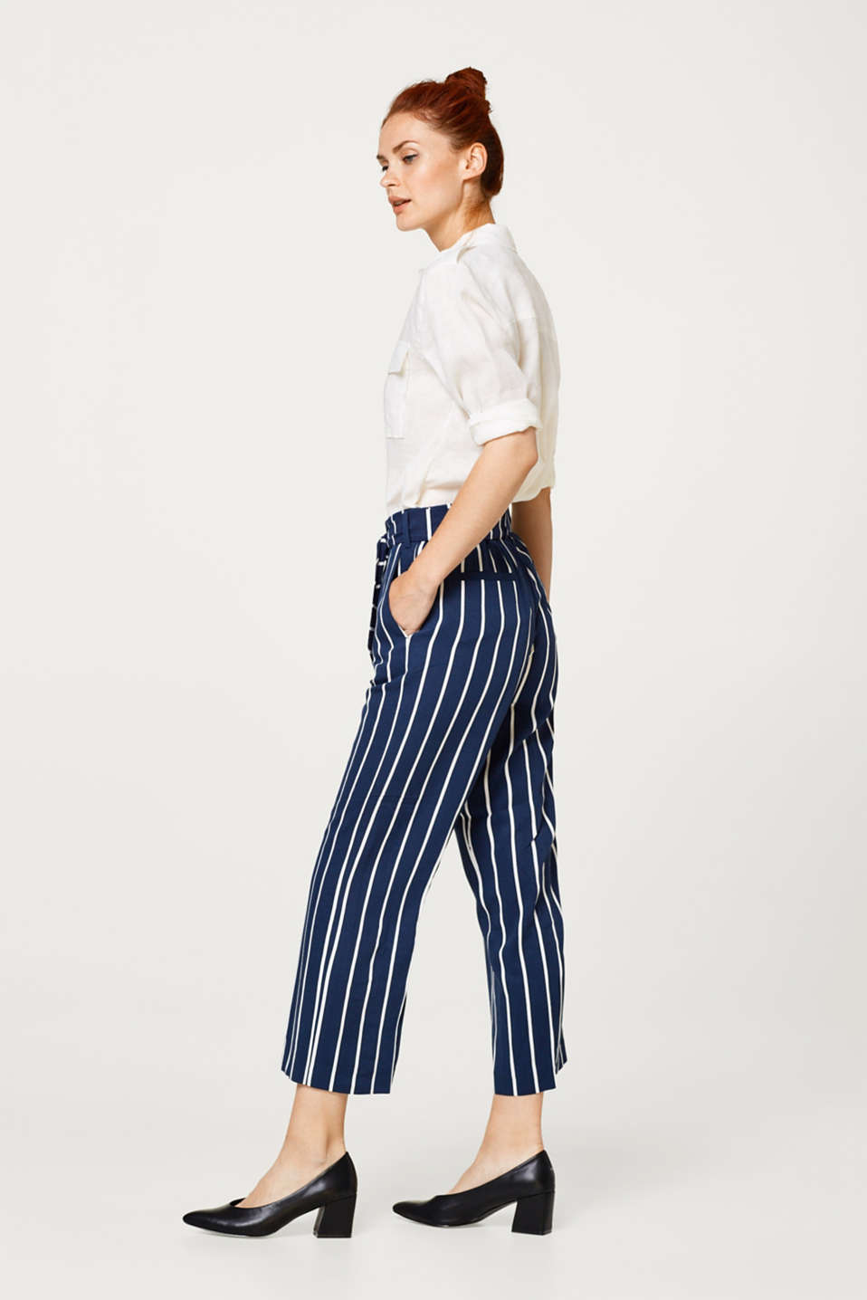 Lightweight culottes with distinctive stripes