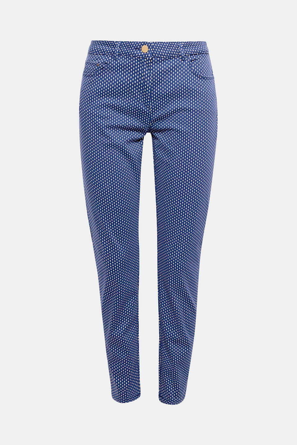 Mini prints also look great on slim-fitting trousers such as these ones in stretch satin!