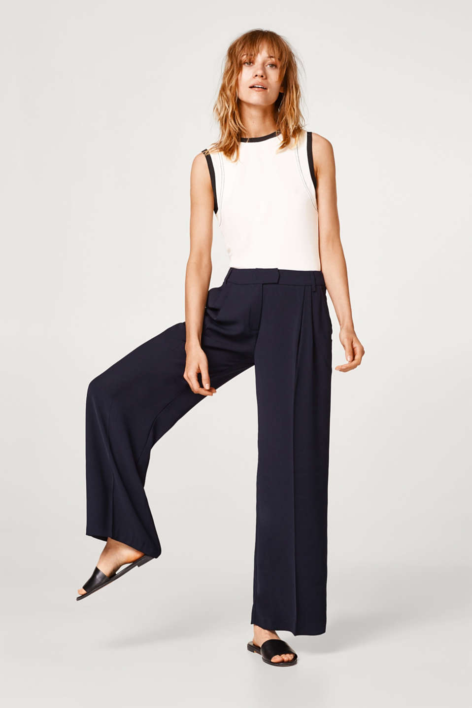 FEMININE CREPE mix + match stretch palazzo trousers