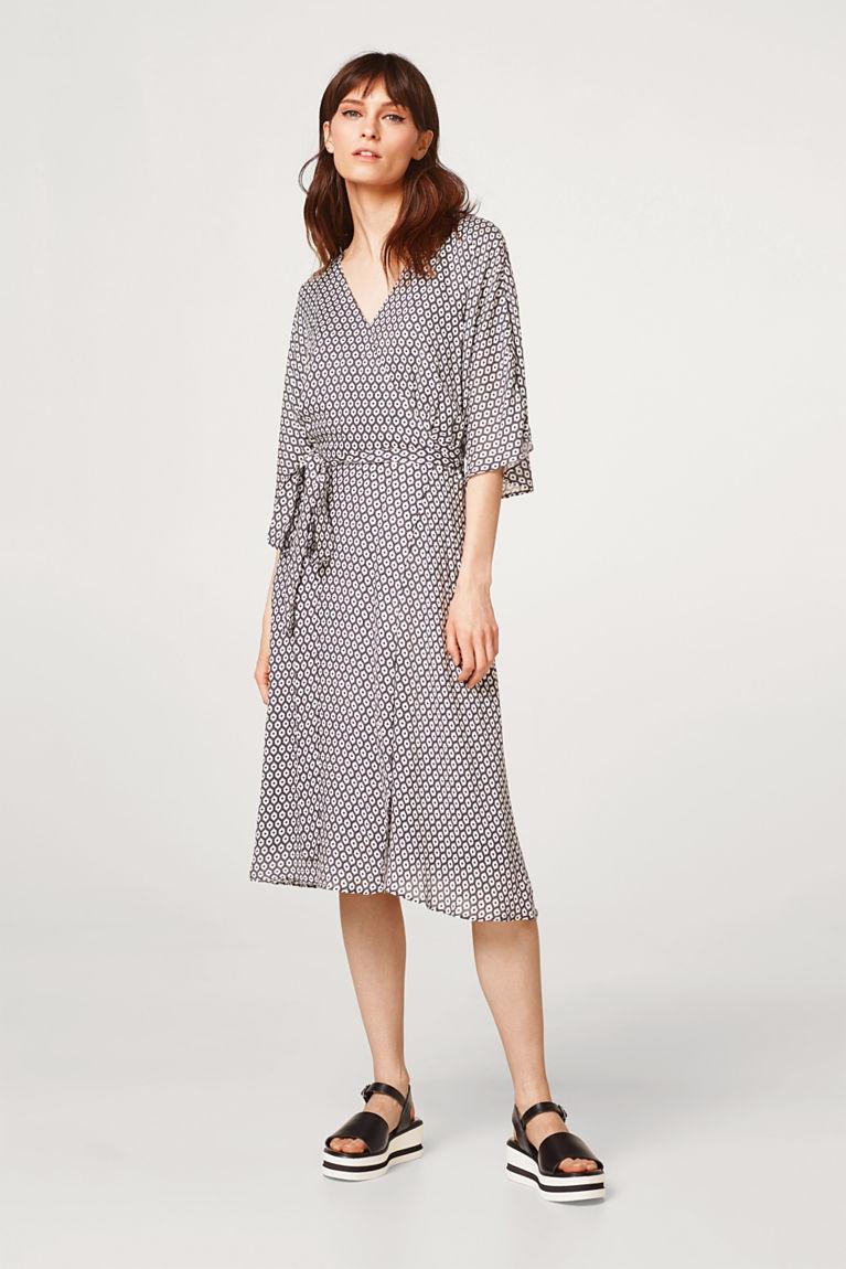 Sommerliches Print-Kleid im Wickel-Look