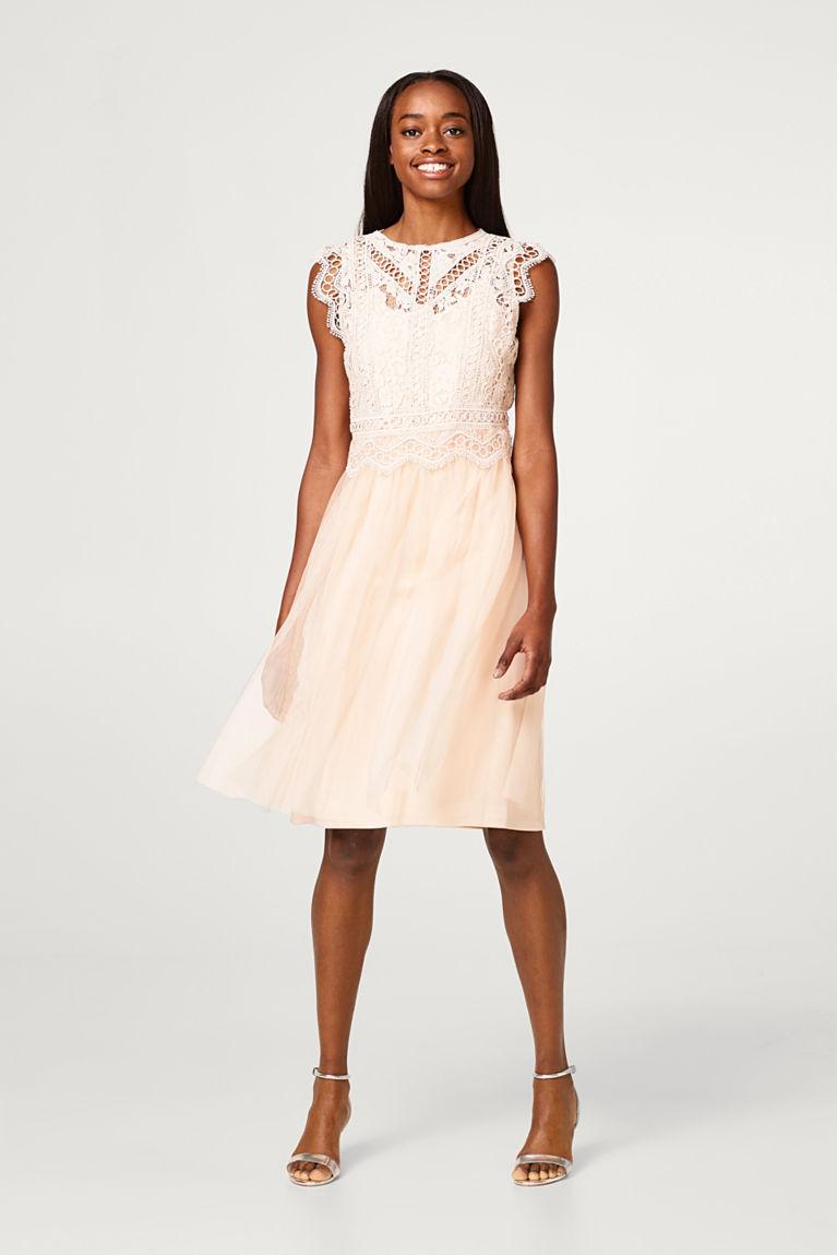 Kleid mit Spitzen-Oberteil und Tüll-Rock