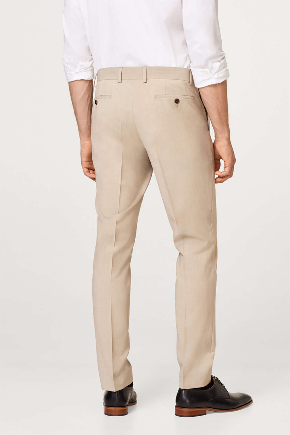 Finely texture suit trousers with wool