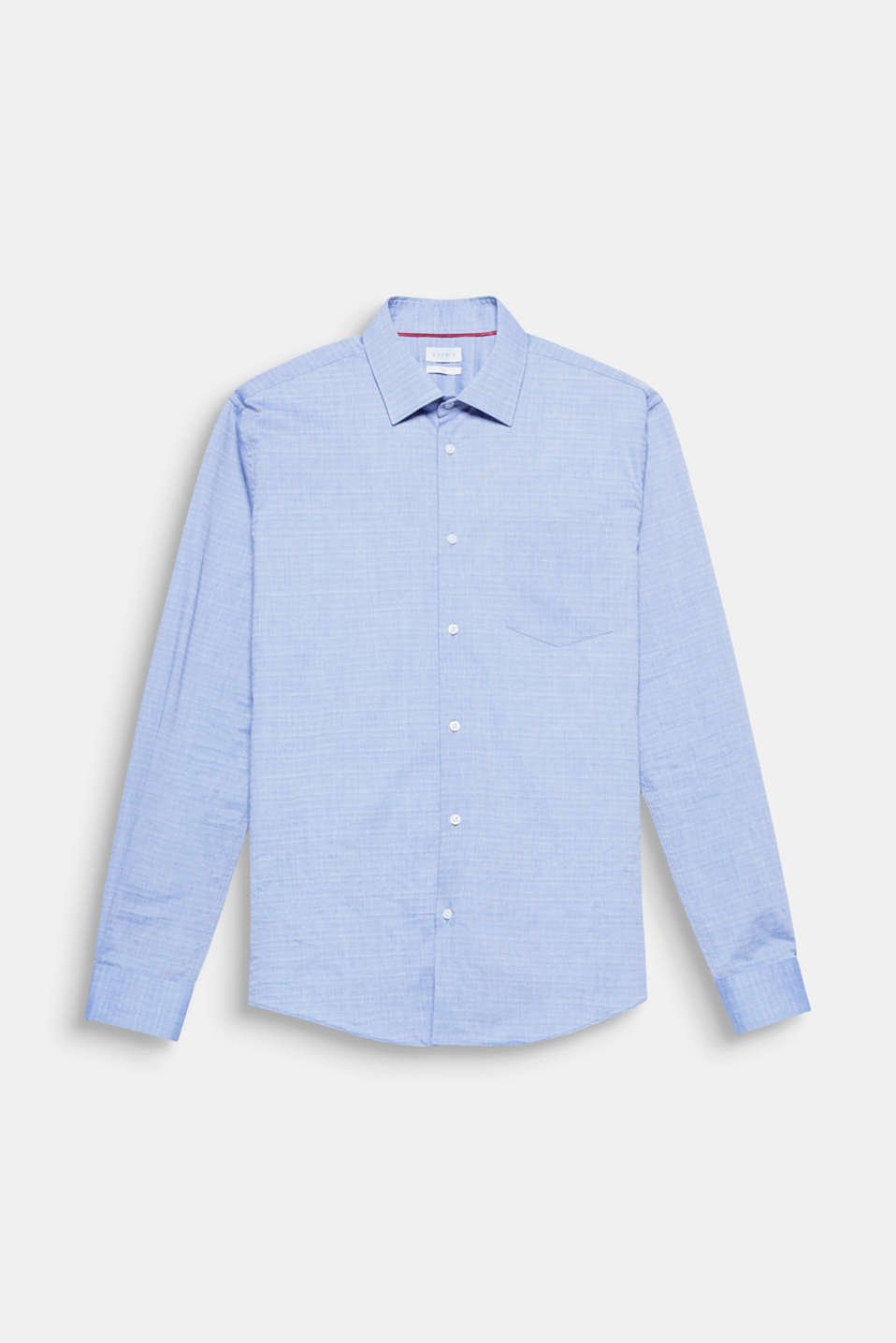 Suit up! The fine slub texture and easy-iron cotton fabric make this shirt look seriously smart.
