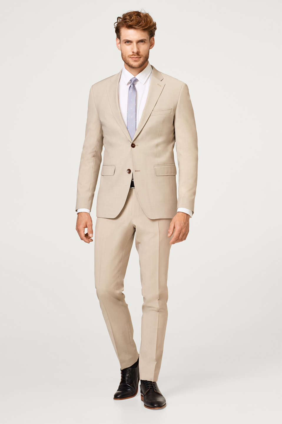 ACTIVE SUIT finely textured tailored jacket, wool blend