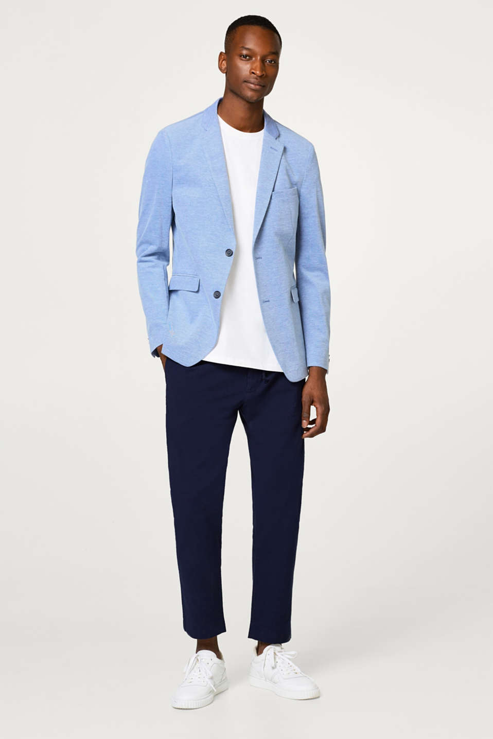 Lightweight tailored summer jacket in a cotton blend